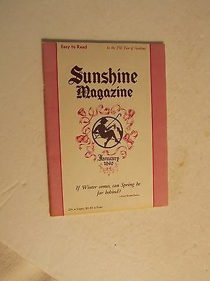 Vintage January 1960 Sunshine Magazine If Winter Comes, Spring be Far Behind