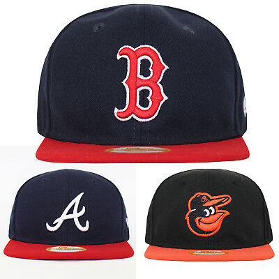 New Era 9FIFTY Snapback Infants Red Sox Braves Orioles Baseball Cap 0-2 YRS