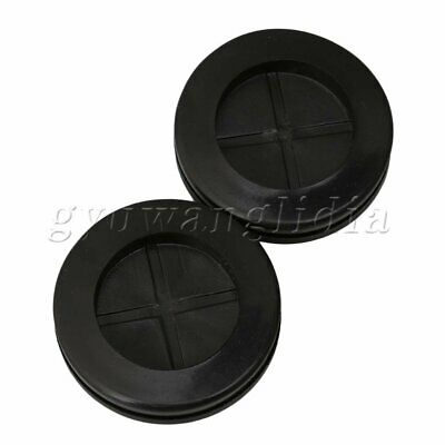 20 x Cable Wiring Wire Rubber Round Closed Blanking Grommets 30mm Groove