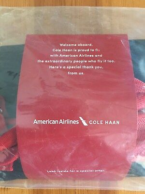 New Sealed 2018 American Airlines Cole Haan Amenity Kit. First Class Transcon