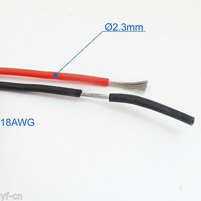 8Meters 18AWG Flexible Soft Silicone Wire Copper RC Electronic Cable R+B