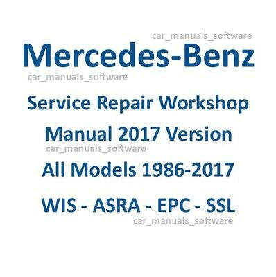 New 2017 Mercedes WIS ASRA & EPC Dealer Service Repair Workshop Manual DVD