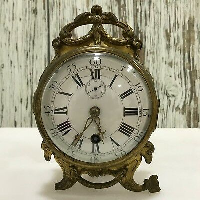 MEDAILLE D'OR 1827 CHARLES FRODSHAM Rare Antique Brass Mantel Clock 19429