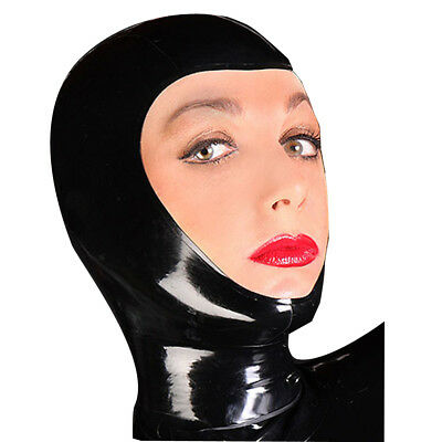 Latex Unisex Sexy Rubber Party Hood Mask Open Face Holiday Party Unique Wear New