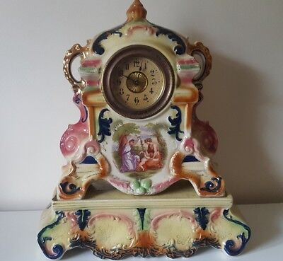 Victorian Porcelaine Cased Mantle Clock