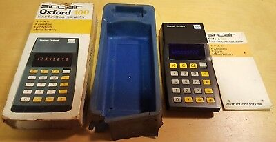Vintage Sinclair Oxford 100 Four-Function Calculator Boxed & Tested