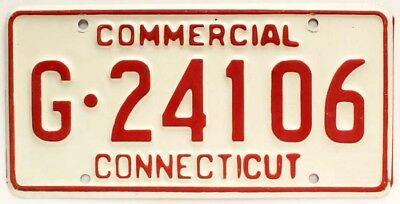 Connecticut 1980s Commercial Truck License Plate, G-24106, High Quality
