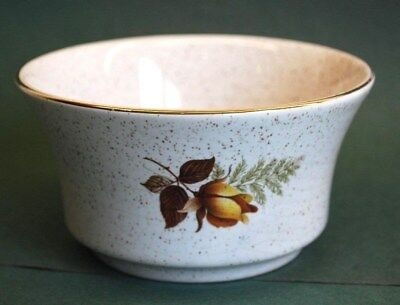 "KERNEWEK POTTERY (Cornwall) ""AUTUMN ROSE"" SUGAR BOWL. Excellent Condition"