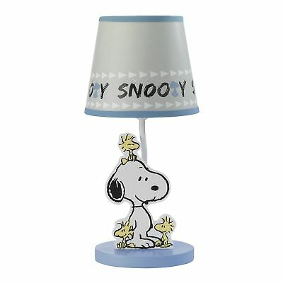 Bedtime Originals Forever Snoopy™ Lamp with Shade & Bulb - Blue, Gray, Snoopy