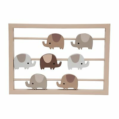 Lambs & Ivy Oatmeal Cookie Wall Decor  -  Gray, Brown, Beige, Animals, Elephant