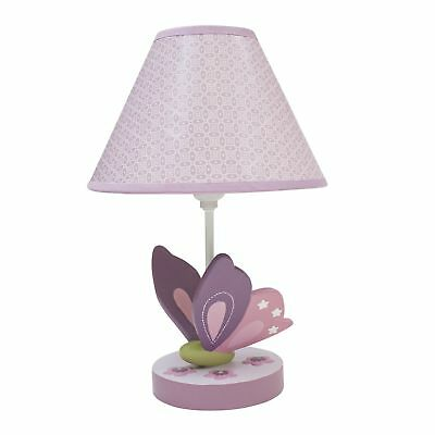 Lambs & Ivy Butterfly Bloom Lamp with Shade & Bulb  -  Purple, Butterfly,