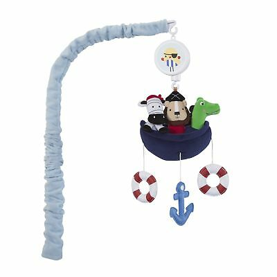 Lambs & Ivy Little Pirates Musical Mobile  -  Blue, Aquatic, Animals, Lion,