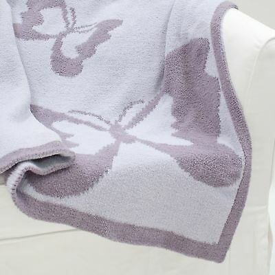 Lambs & Ivy Signature French Lavender Blanket  -  Purple, Butterfly, Butterfly