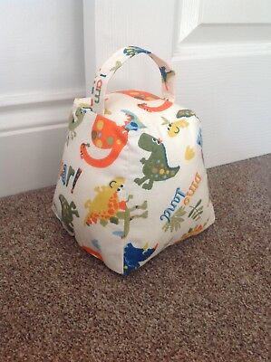 Dinosaur bedroom doorstop. Matching bunting available
