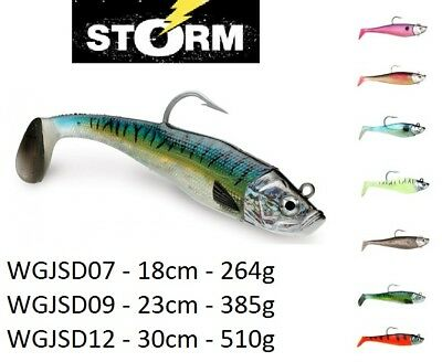Storm WildEye Giant Jigging Shad 15cm -30cm / 135g - 510g / 2 Soft Bodies 1 Head