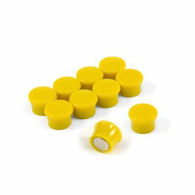 Small High Power 'Memo' Board Magnets - Yellow (5 Packs of 10)