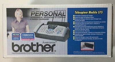 New factory sealed Brother FAX-575 Plain Paper Thermal Copier Fax