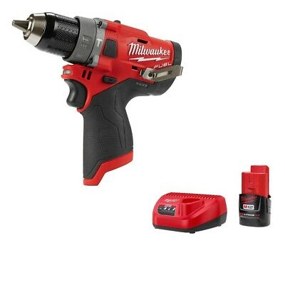 Milwaukee 2504-20 M12 FUEL Brushless 1/2 In Hammer Drill Gen 2 w/ BATTERY & CHGR