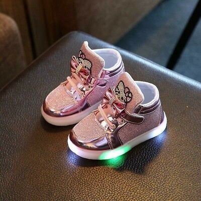 US Stock 💥Baby Kids Boys Girls LED Shoes Light Up Luminous Sport Shoes Snekers