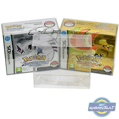 Game BOX PROTECTOR Pokemon for Nintendo DS SoulSilver & HeartGold 0.5mm PET CASE