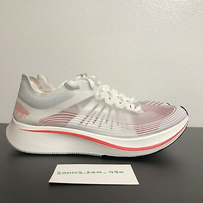 the best attitude b78af fa337 Nike Zoom Fly SP AJ8229-106 White Sail Crimson Women s Running Shoes Size  11.5