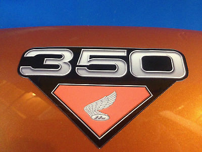 HONDA CB350 Side Panel Badges , Emblems, Decals 68,69,70,71,72 Sold as a Pair