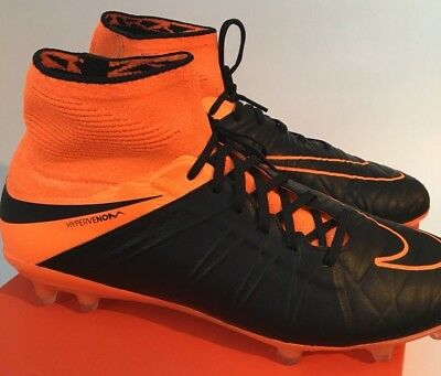 outlet store e6953 a1a31 ... hot nike hypervenom phantom ii fg football boots rare black orange  747501 008 uk 6 0fef9