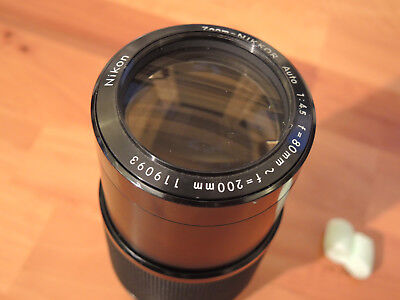 Nikon AI Zoom-Nikkor 80-200mm F4.5 Manual Focus Lens SN 119093