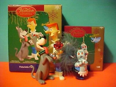 2 Carlton Cards Heirloom Ornament Jetsons with Dog & Rosie the Robot