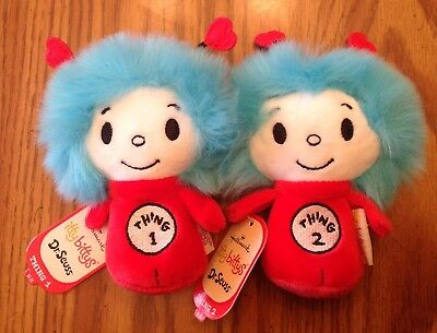 2016 Hallmark Itty Bitty Bittys Dr Seuss THING 1 & 2 RETIRED Plush New With Tags