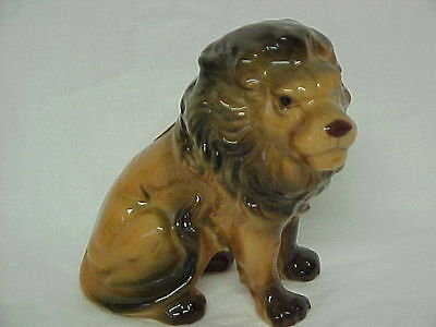 """Vintage Lion Figure Bone China Figurine Almost 3 1/2"""" Tall A Great Lion Perfect"""