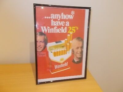 Cigarette Advertising Paul Hogan Winfield. Frame not included for display only