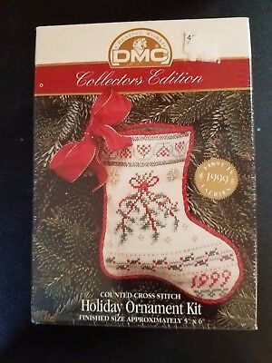 DMC Collectors Edition Counted Cross Stitch Holiday Ornament Kit 1999 NIP