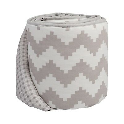 Lolli Living Aztec Chevron Cotton Baby Crib Bumper 4-Piece New Grey