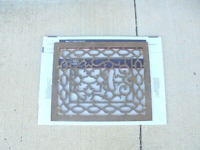 """cast iron furnace air grate fits 15"""" X 12"""" opening very ornate garden decor"""