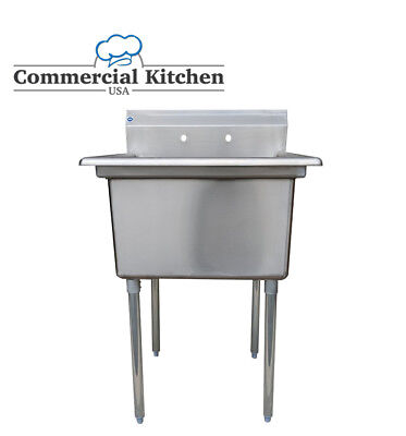 """Stainless Steel Utility Sink for Commercial Kitchen -23.5"""" wide Free Shipping"""
