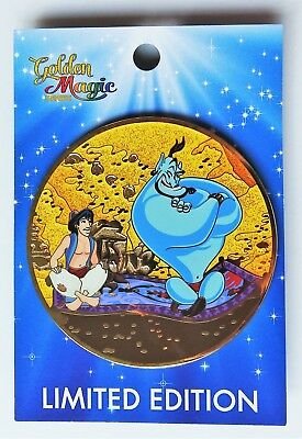 Disney Acme Aladdin & Genie Flying Carpet Golden Magic Series Jumbo Pin LE 300