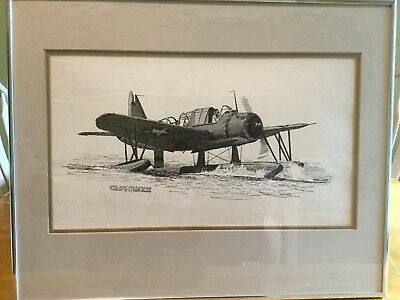 Set of 4 Joe Milich 11 x 7 Signed & Numbered Military Aircraft Framed Prints