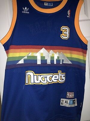 competitive price 31b63 e5e71 DENVER NUGGETS ALLEN Iverson Adidas Hardwood Classics Jersey #3 Size: XL