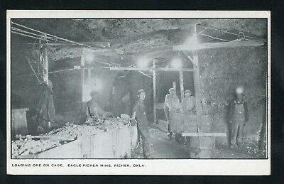 postcard underground Eagle Mine Mining in Picher OKLAHOMA Ottawa County