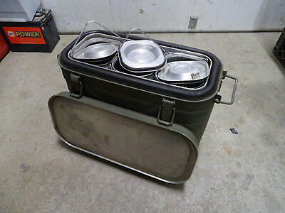 Military MERMITE aluminum hot/cold insulated container.  Dated 1982