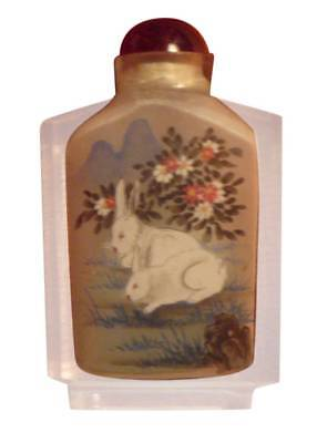 Antique Chinese Snuff Bottle Inside Painted Snuff Bottle Glass Snuff Bottle