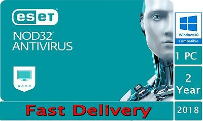 Eset NOD 32 Antivirus Original 2019 2Year 1 Pc Fast Delivery