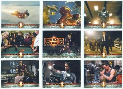 """complete Base Card Set 1-70"" Iron Man Movie Trading Cards Robert Downey Jr"