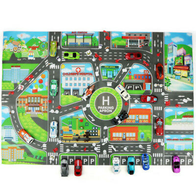 Car Educational Toys Toy Car Map Child Play Toddler Mat Waterproof City Road
