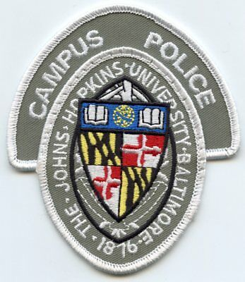 The Johns Hopkins University Baltimore Maryland Md Campus Police Patch