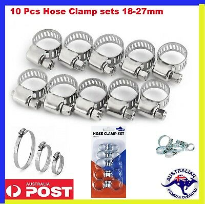 10 pcs Hose Clamps  Quality HoseClamp sets 8- 27mm High Quality