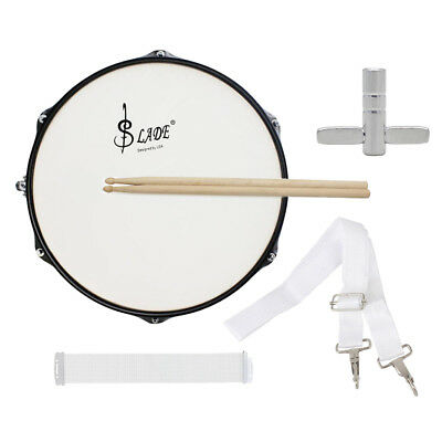 LADE 14'' Snare Drum Head w/ Drumstick Drum Key Strap for Band Music Lovers