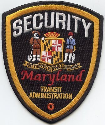 MARYLAND MD STATE ADMINISTRATION SECURITY police PATCH