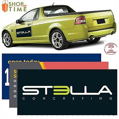 "Custom Car Sign Magnet 12"" x 24"" 30 mil Printed With Your Logo / Name/ Art 2 QTY"